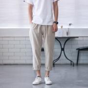 棉麻混纺 男宽松休闲裤 29.8元包邮