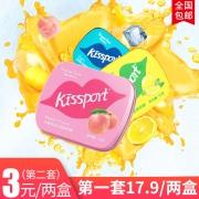 ¥19.9 kissport无糖薄荷糖2盒*3