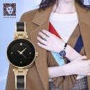 PrimeDay特价,Anne Klein 安妮·克莱因 AK/1980BKGB 女士goldtone镶钻手表240.98元
