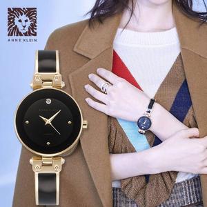 PrimeDay特价,Anne Klein 安妮·克莱因 AK/1980BKGB 女士goldtone镶钻手表