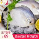 花姐 青岛海捕鲜冻银鲳鱼3斤69元包邮