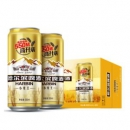 Harbin/哈尔滨啤酒 小麦王高升装 550ml*20听 54.9元包邮 赠醇爽330ml*2罐¥55