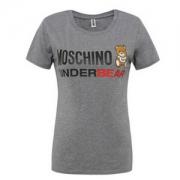 Moschino 莫斯奇诺 女士灰色小熊棉质短袖T恤 A1906 3色