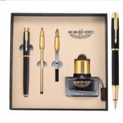 HERO 英雄 1801 IM系列 铱金钢笔 三笔头墨水礼盒装138元包邮(下单立减)