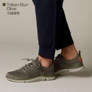 Clarks 其乐 18新款 Triken Run 男士三瓣底网面运动鞋 26130970 多尺码