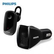 PHILIPS 飞利浦 SHB1801 车载充电器 车载蓝牙耳机 入耳式商务耳机 黑色 159元包邮159元包邮