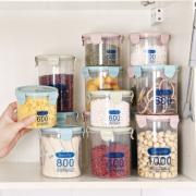莱朗 透明塑料密封罐 3件套(600+800+1000ml) *2件 19.8元包邮(合9.9元/件)