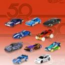 PrimeDay特价,Hot Wheels 风火轮 50周年纪念版 火辣小跑车10辆礼盒装FXV45折后76.36元(下单7.5折)