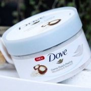 PRIMEDAY特价,Dove 多芬  坚果米浆 冰淇淋身体磨砂膏225ml *4件