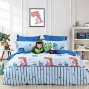 水星家纺 儿童全棉床品四件套 成龙纪 1.5M(5英尺)床 赠枕头*1只