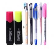 Truecolor 真彩 荧光笔 2支+5支中性笔 3.7元包邮(需用券)¥4