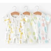 POPUBB 婴国偶相 新生婴儿短袖哈衣 *2件 14.9元包邮(合7.45元/件)¥15