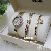 Anne Klein 安妮·克莱恩 AK/3294GBST  施华洛世奇水晶 女士手镯手表套装 两色310.97元