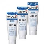 SHISEIDO 资生堂 UNO 吾诺 男士蓝色清洁磨砂洗面奶130g*3件 52.92元