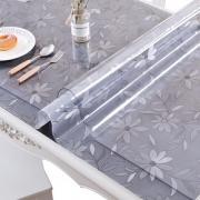 软玻璃透明餐桌垫PVC桌布防水防烫防油免洗塑料茶几台布厚水晶板5元