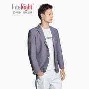 狂暑来袭:INTERIGHT男士泡泡纱休闲修身西装119元