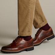 限尺码:Clarks 其乐 男士 布洛克雕花皮鞋Prime会员268元