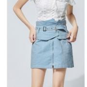 ONE MORE 11GN820430 女士牛仔半身裙 *2件 93.5元包邮(需用券,合46.75元/件)¥94