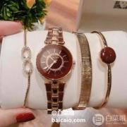 PrimeDay特价,Anne Klein 安妮·克莱恩 AK/3286BYST 施华洛世奇水晶 女士手镯手表套装