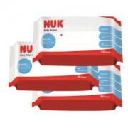 NUK特柔婴儿湿巾80片3包有赠品*3件