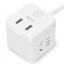 BULL 公牛 U9B122 小魔方带双USB口插座 *2件 81元包邮(合40.5元/件)¥81