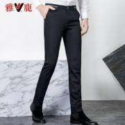 雅鹿 男士时尚商务弹力修身休闲长裤