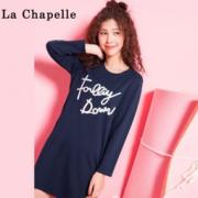 La Chapelle 拉夏贝尔 60004896 字母绣连衣裙  34.9元包邮