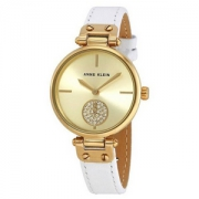 Anne Klein 妮克莱因 AK/3380CHWT 女士真皮表带时尚手表