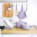 Greenlife SOFT GRIP系列 陶瓷不粘套锅套装 16件套 薰衣草紫色486.65元(PRIME会员立减208)