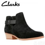 限US5码,Clark 其乐Addiy Carisa 女士真皮踝靴