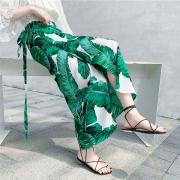 ¥38 泰国度假一片式半身裙系带雪纺长裙不规则碎花裹裙¥38