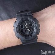 CASIO 卡西欧 G-SHOCK系列 GA-100-1A1 男士多功能双显运动手表
