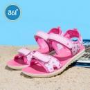 361度 女童中大童沙滩鞋运动透气凉鞋 3色新低29元包邮(双重优惠)