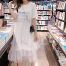 女装韩版甜美仙女裙网纱拼接两件套¥49