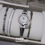 PrimeDay特价,Anne Klein 安妮·克莱因 AK/3285WTST 女士施华洛世奇水晶 手表套装