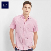 GAP 男士牛津布短袖衬衫 2件112元(折56元/件)