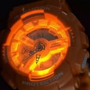 少见骚气橙,Casio 卡西欧 G-Shock系列 GA110SG-4A 男士双显运动手表