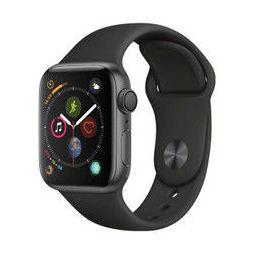 Apple Watch Series4 智能手表 GPS款 40毫米 深空灰色铝金属表壳搭配黑色运动型表带