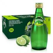 perrier 巴黎水 充气天然矿泉水 原味 330ml*24瓶98.14元