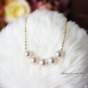 PearlyuumiAkoya4-4.5mm海水珍珠项链K14白金/K18金