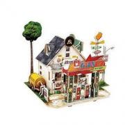 Robotime 若态 DIY小屋子模型 F137 美国公路加油站