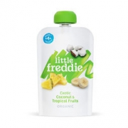 LittleFreddie 小皮 有机椰子菠萝香蕉水果泥 100g低至13.5元(满减)