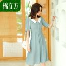 ¥79 MEFOUND 棉立方 19BE1152 气质棉麻连衣裙¥79