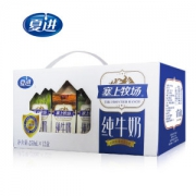 夏进 全脂纯牛奶 250ml*12盒 蛋白质含量持平特仑苏 39元包邮¥39