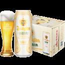 世界啤酒锦标赛银奖 青岛啤酒 全麦白啤酒 500ml*12听 69元包邮¥69