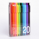 KACO 文采 PURE书源 按动式中性笔 0.5mm 10支/盒 18元包邮(需用券)¥18
