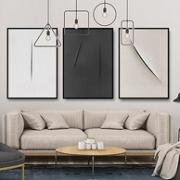 极有家认证、环保材料:3幅 北欧风格客厅装饰画壁画