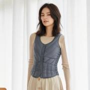反季特价 高梵 女轻薄款 时尚修身 内穿羽绒背心 69元包邮¥69