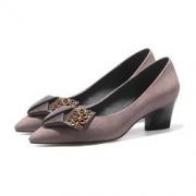 Luiza Barcelos 羊皮蝴蝶结跟鞋