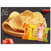 阿婆家的 薯片 薯大小烧烤味30g*4包 薯大小膨化零食小吃 *5件19.9元(合3.98元/件)